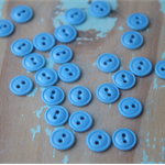 30 Vintage Blue Buttons ~ Costume Making ~ DIY Toys ~ Wedding DIY