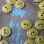 30 Vintage Yellow Buttons  Costume Making DIY Toys  Yellow Embellishments