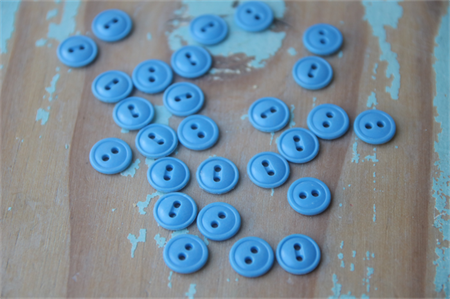 30 Vintage Blue Buttons ~ Costume Making ~ DIY Toys ~ Wedding DIY
