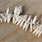 30 Off White Howlite stone top drilled spike beads 30x8mm