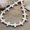 24 Off White tone Howlite stone Cross beads 12x16mm