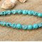 15 Sugar Skull Blue Turquoise Howlite beads 10mm