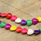 24 Howlite gemstone Heart shaped beads, mixed colour beads 17mm