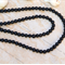 60 Black Lava stone Lavastone round beads 6.3/ 6.5mm