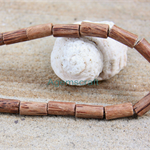 20x10mm Brown natural coconut wood tube 16 beads