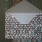 12 Triangle Patterned Envelopes ~ Scrapbooking Envelopes ~ Mini Envelopes