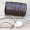 1mm thick Leather like Chocolate Brown Waxed polyester braided Cord