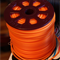 2.5mm Orange Round Hollow Rubber Jewellery Tubing Cord per meter