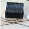 1.5mm thick Black Leather like Chocolate Waxed polyester braided Cord
