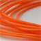 2.5mm Orange Round Hollow Rubber Jewellery Tubing Cord per meter
