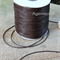 1.5mm thick Leather like Chocolate Brown Waxed polyester braided Cord