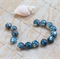12mm  Dappled Ceramic Round Porcelain Loose beads( qty 14)