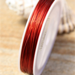 0.38mm Red tone Tiger Tail Tigertail Beading wire 1 spool 75m