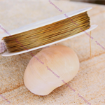 0.45mm Gold tone Tiger Tail Tigertail Beading wire 1 spool 80m