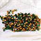 12 Green Tourmaline crystals ss29 Gold Foiled 6.1-6.3mm
