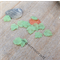 30 Frosted Green Acrylic textured grape wine leaf 25x25mm beads