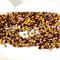 12 Vintage Swarovski Smoked Topaz crystals SS16 Gold Foiled 3.8-4mm