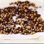 12 Vintage Swarovski Smoked Topaz rhinestone crystals ss25 Gold Foiled 5.4-5.6mm