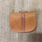 Brown Leather Handbag for a doll or teddy bear