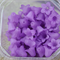 30 Purple Lilac Lucite Acrylic Flower Seafoam Frosted bead caps 13x15mm