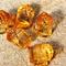 15 Beer Jags Amber Yellow Acrylic charm pendants 24x18mm
