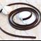 Genuine Leather Flat Cord 5x2mm Brown  1 meter  pre-cut