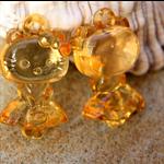 9 Large Lovely translucent 3D Acrylic  Hello Kitty pendant beads