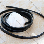 Genuine Leather Flat Cord 5x2mm Black, 1 meter  pre-cut