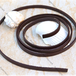 Genuine Leather Flat Cord 5x2mm Brown  1 meter  pre-cut