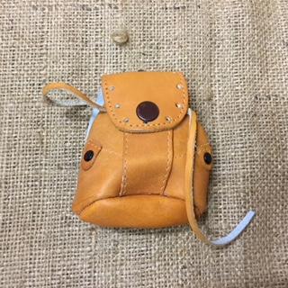 Leather Shoulder Bag for Doll or Teddy Bear.