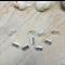 14 Silver  tone Fastener Clasp  Crimp End 10x7.5mm
