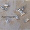 30 Fold End Tips Clasps Cord Ribbon Crimp End Caps 8x3mm