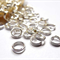 60 Bright Silver tone round Double Loop Split Rings 8mm