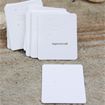 20 Glossy White thick Display Cards for earrings, pendants 4.5x5.5cm