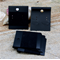 20 Black Earring Plastic Display Cards 40mm x50mm