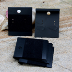 20 Black Earring Plastic Display Cards with flocked velvet, 40mm x50mm