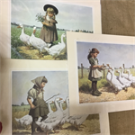 Paper Tole Prints - Girls with Geese
