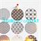 Japanese Print {18} Gold Foil  Transparent Seals | Round Gold Stickers Seals