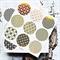 Japanese Print Gold Foil Transparent Seals | Round Gold Stickers Seals