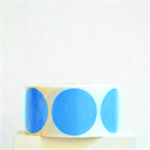 Mid Blue Circle Stickers {20} 50mm diam | Gift Envelope Seals DIY Supplies Event