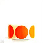 Orange Circle Stickers {20} 50mm diam | Gift Envelope Seals DIY Supplies Events