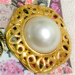 Gold and pearl vintage buttons