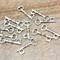 5 Silver Tone Key Steampunk Charm pendant