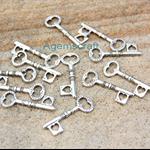 5 Silver Tone Key Steampunk Charm pendant Craft Art 34x12mm