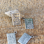 6 Chef Cook Book silver tone Charms  Pendant drop