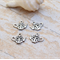 10 Filigree Teapot silver tone both sided charms 16x18mm