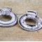 Celtic silver tone pendant focal bead charm 40x45mm
