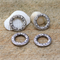 Round 25mm Silver tone alloy charm ring pendant connector x4
