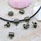 10 Barrel bails for pendant,charm, beads bronze tone