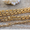 5mm Gold Plated Belcher Rolo unfinished Chain 1 meter